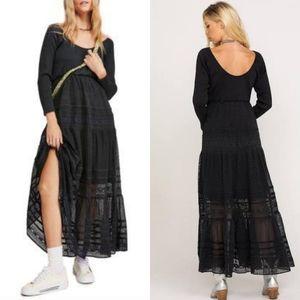 NWT Free People Earth Angel Long Sleeve Maxi Dress
